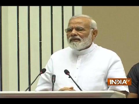 Delhi: PM Narendra Modi's addressat Vigyan Bhawan on the occasion of Basava Jayanti