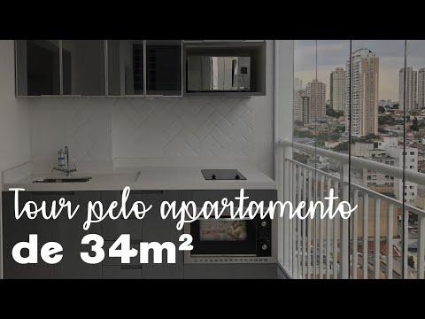 Tour pelo apartamento studio de 34m2