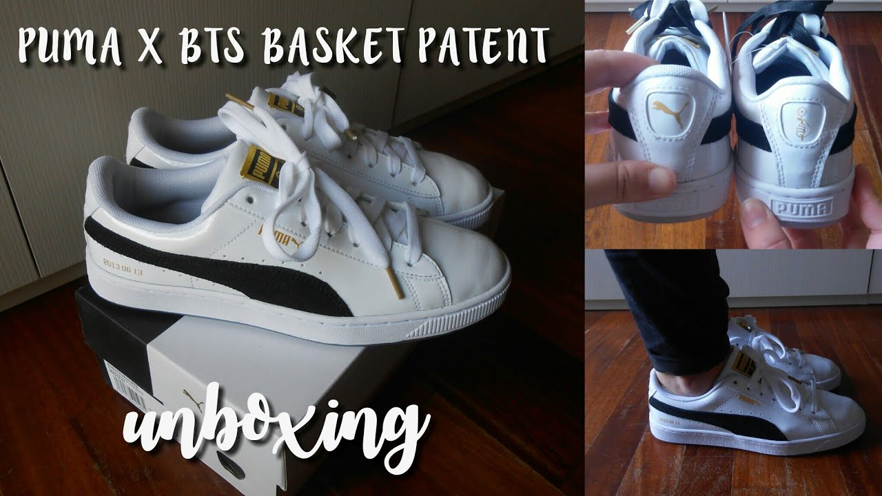 low priced fef6a 8c44d [UNBOXING] PUMA X BTS BASKET PATENT