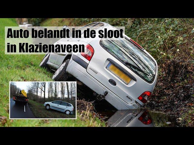 4K BERGING - AUTO IN DE SLOOT IN KLAZIENAVEEN