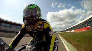 On board Cal Crutchlow, Silverstone, with Matt Kelly from mirror.co.uk following