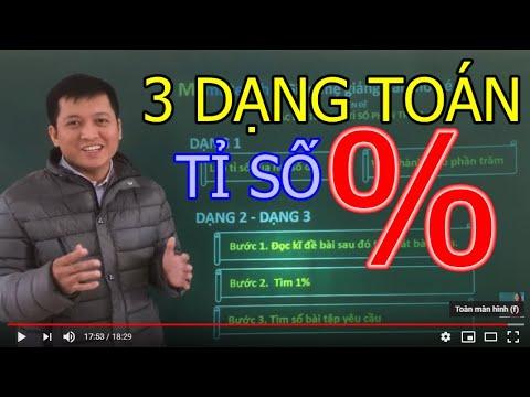 [Toán nâng cao lớp 5] Bài toán về Tỉ số phần trăm ( % )  Phần 1 – Thầy Khải- SĐT: 0943734664
