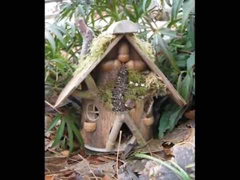 Вот такой необычный декор для сада - шикарный домик для феи своими руками