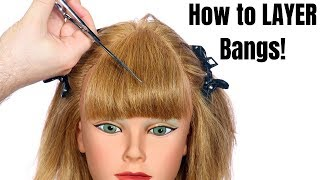 How to Layer Bangs - TheSalonGuy