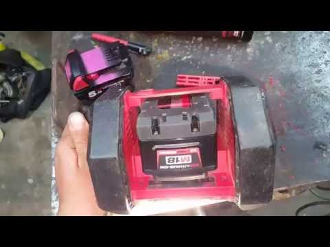 Making a Milwaukee  9.0amp fit in the M18 AL LED lantern