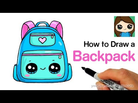 How to Draw a Backpack Cute and Easy | Back to School Supplies