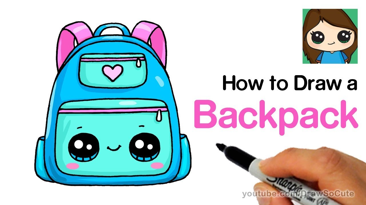 How to Draw a Backpack Cute and