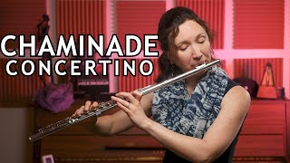 One of my favorites the Chaminade Concertino for flute is super crowd favorite! Imagine playing with orchestra! Be sure to check out tomplay.com for backing ...