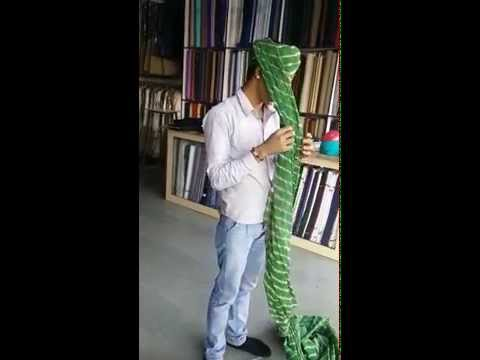 Traditional method to tie a Jodhpuri Safa
