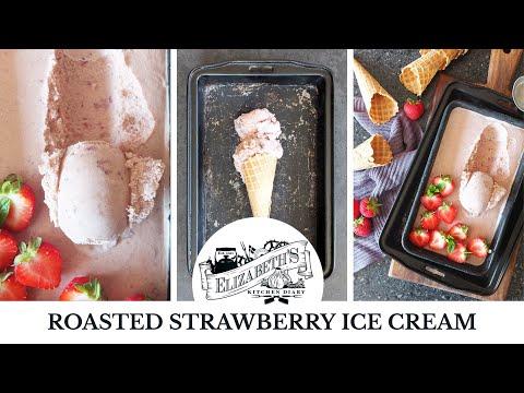 Roasted Strawberry Ice Cream Recipe