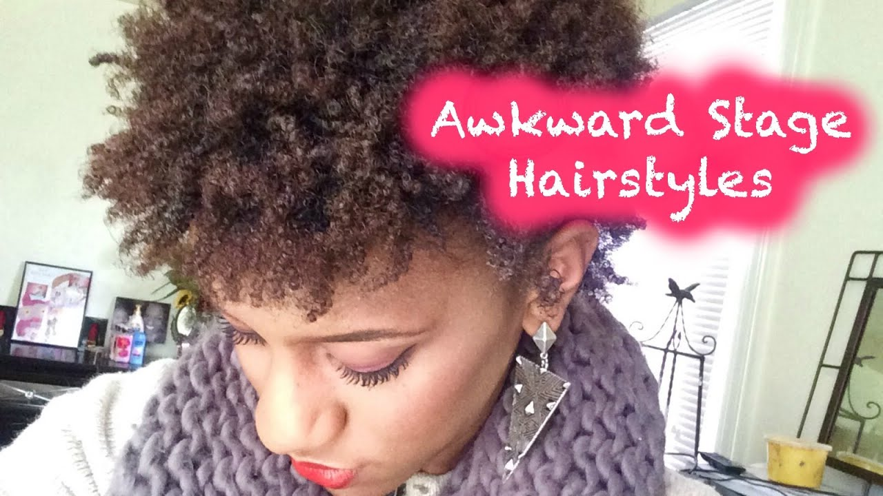 4 Quick & Easy Styles For Short Natural Hair Awkward Stage YouTube