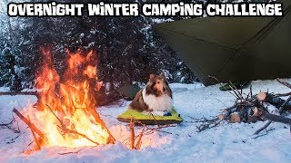 Winter Camping Overnight - 500$ Gear Load-Out Challenge