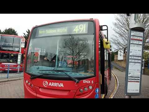 Blind change on Arriva London ENX5 (LJ61CKN)