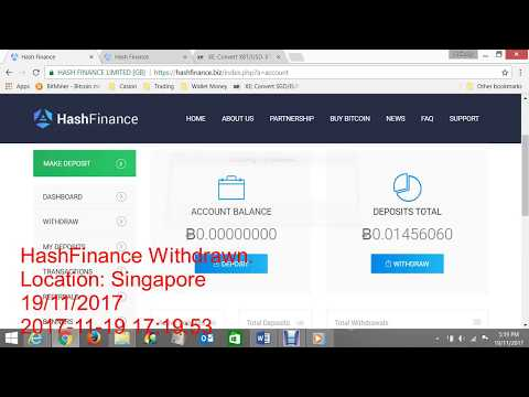 Hash Finance Fund Withdraw Ƀ 0.00419333 on 19.11.2017