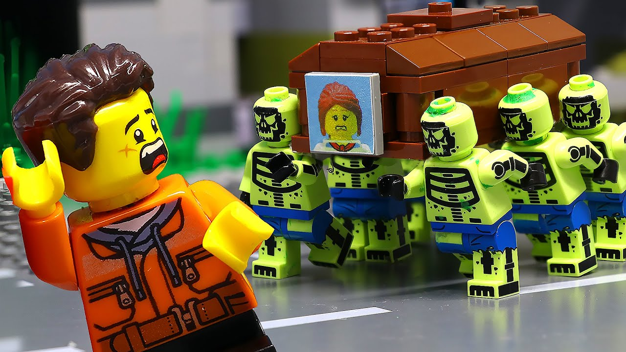 My Stupid Teammate Leads Coffin Dance | LEGO Zombie Apocalypse (Lego Animation)