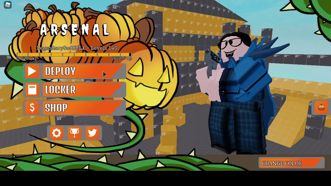 arsenal hackula skin showcase halloween event boss fight roblox