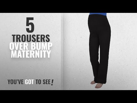 Top 10 Trousers Over Bump Maternity [2018]: Mija - Maternity casual comfortable yoga trousers over