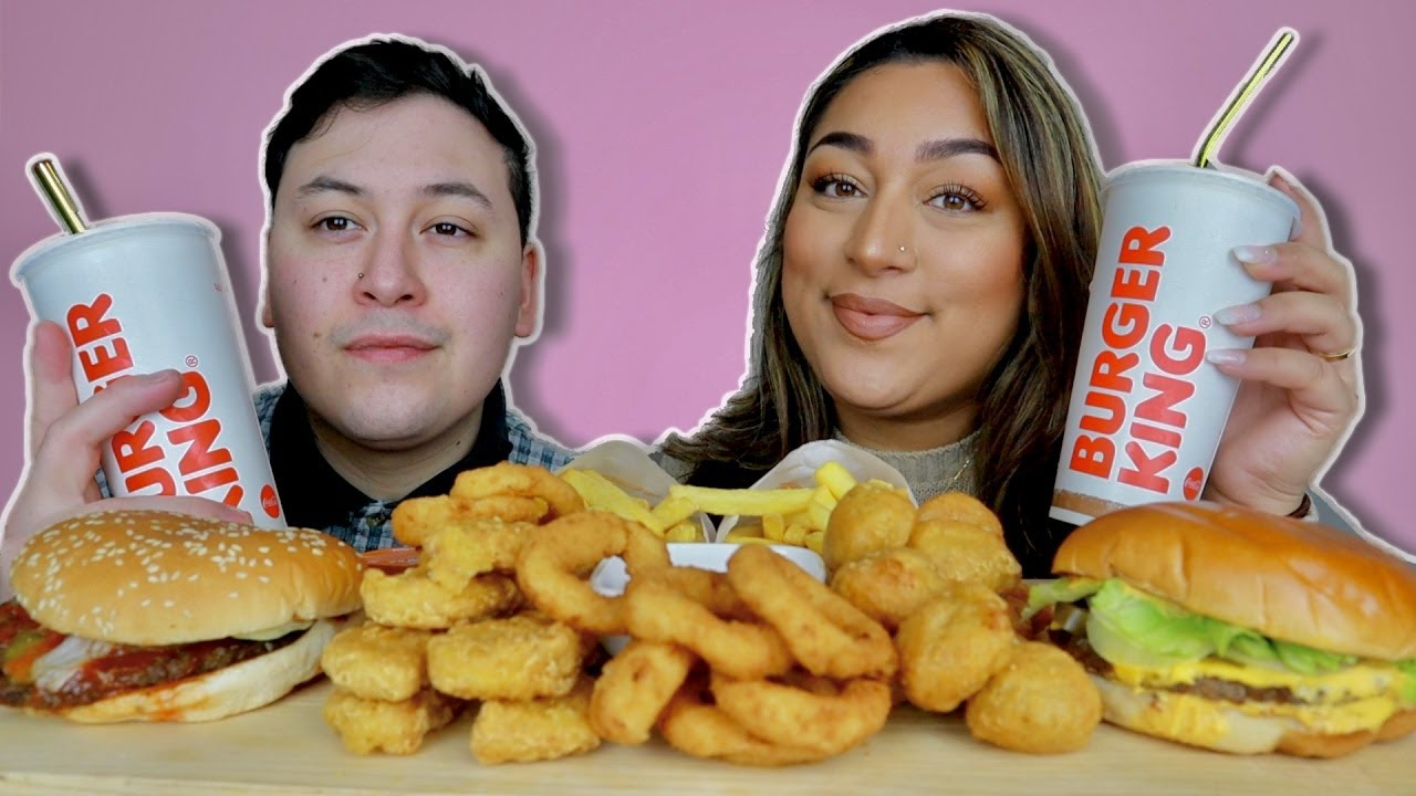 BURGER KING MUKBANG WITH FIANCÉ | WHOPPER | CHILI CHEESE BURGER | NUGGETS | ONION RINGS
