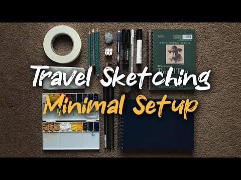 Watercolor Plein Air Setup