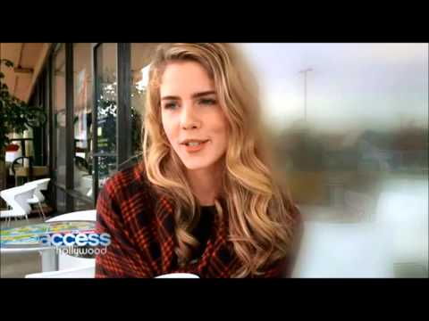 Emily Bett Rickards chats about her first impressions of Grant Gustin