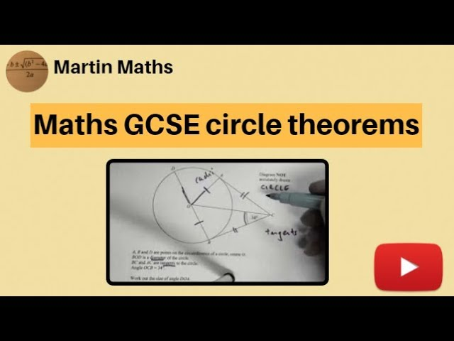 Maths GCSE circle theorems