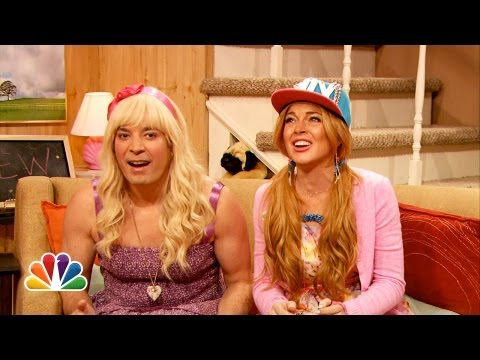 Ew with Jimmy Fallon and Lindsay Lohan...