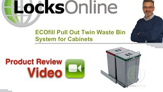 ECOfill Pull Out Twin Waste Bin System for Cabinets    LocksOnline Product Reviews