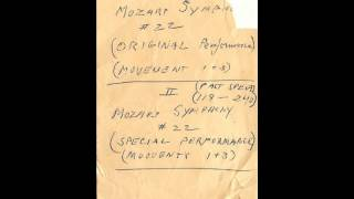 Mozart Symphony #22, Movements 1-3 (Special Performance) 1955-1956 Thumbnail