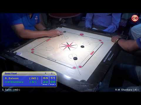 SF Set 2 R M Shankara Vs S. Saleem 32th Annual Karnataka State Carrom Championship 2017-18
