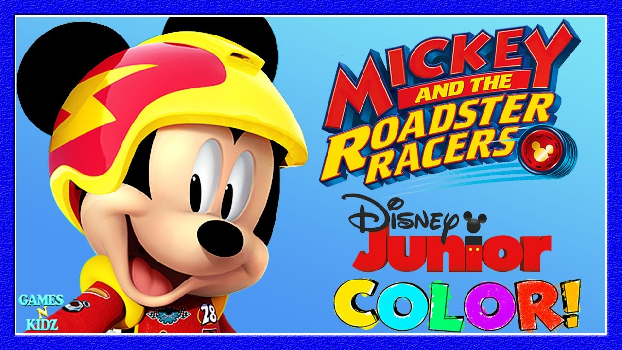 Mickey The Roadster Racers Childrens Coloring Book Game