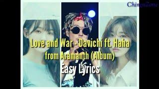 [EASY LYRICS] Love and War by Davichi ft. Haha