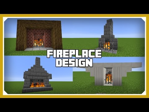 Minecraft: How To Build A Fireplace Design Tutorial (Easy Survival Minecraft House )