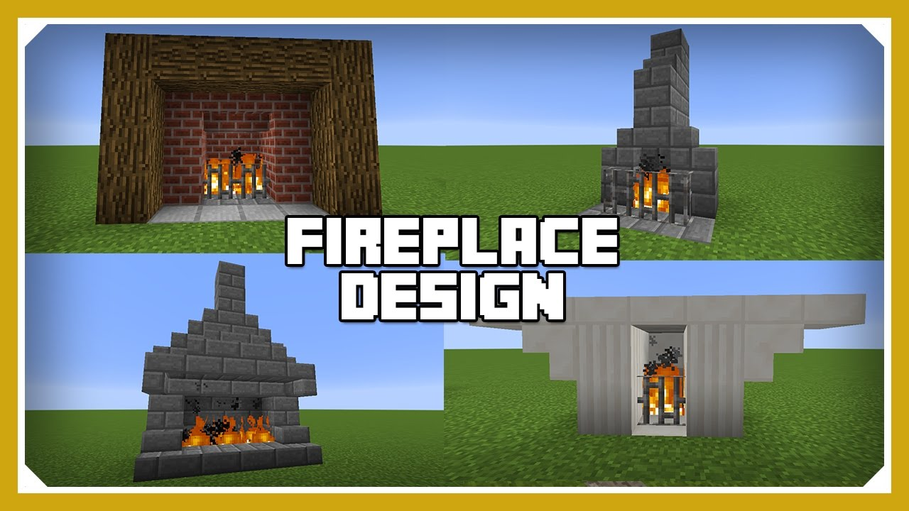 minecraft how to build a fireplace design tutorial easy survival minecraft house youtube. Black Bedroom Furniture Sets. Home Design Ideas