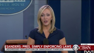 Live on CBSN: White House Press Briefing - June 14, 2018