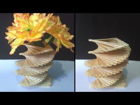 Ide Kreatif Dan Menakjubkan Dari Stik Es Krim   Cara Mudah Membuat Vas Bunga Dari Stik Es Krim