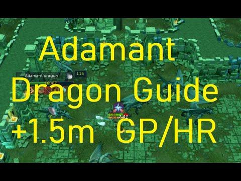 Runescape 3 Adamant Dragon Slayer Task Guide + 1.5m GP/HR