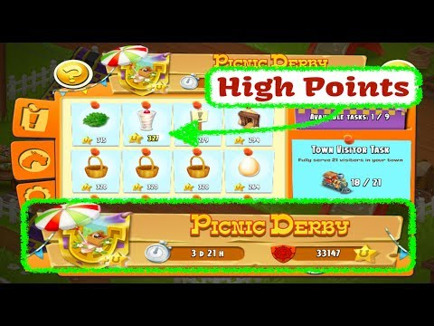 Hay Day Live - July 2017 - Picnic Derby - High Point Tasks