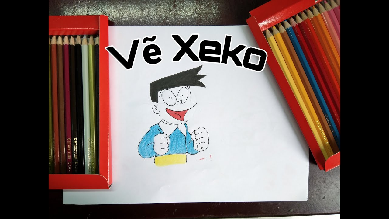 Cách vẽ Xeko mỏ nhọn đơn giản/ How to draw Xeko