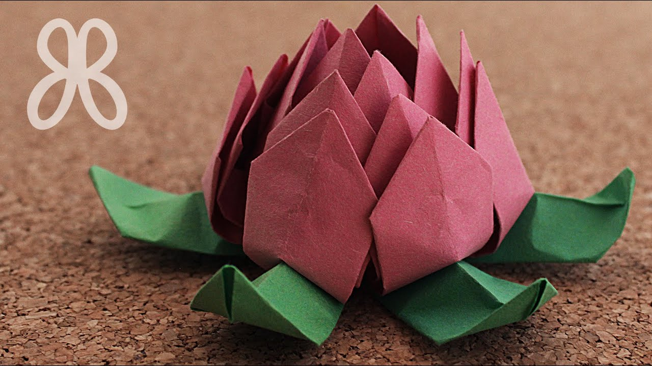 Flor De Loto Papel Origami Youtube