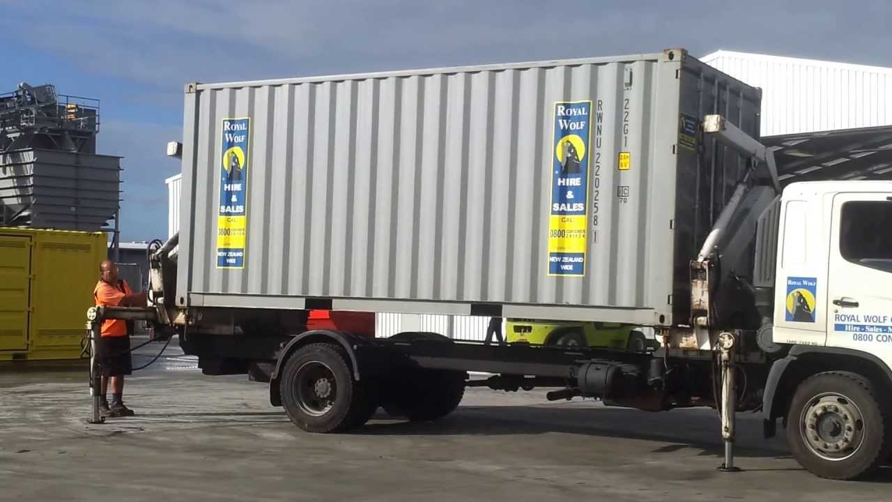 Side Loader Delivery of 20ft Shipping Container YouTube