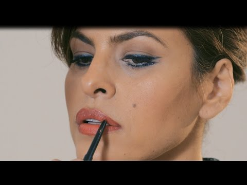 Tutorial: Eva Mendes' Cat Eye & Bold Lip