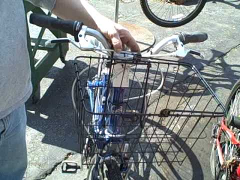 Front Basket Installation WALD - How To Secure A Lift-Off Bike Basket On Your Bike Handlebar