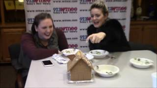 BUILDING A GINGERBREAD HOUSE WITH ANNE-MARIE | Renee 97.3 WMEE