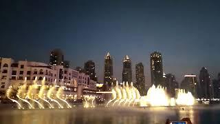 THE DUBAI FOUNTAIN- The Greatest Burj Khalifa's Most Beautiful  (Light And Dance) Water Music Show