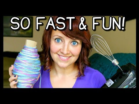 How To Roll Yarn Into A Ball FAST! | Crochet & Knitting Tips!