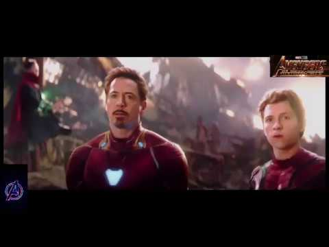 Battle on Titan Thanos vs IronMan,Dr Strange, Spiderman, Starlord,Drax,Nebula Avengers Infinity War