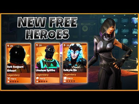 NEW FREE HEROES ~ FIRST FOUR - FORTNITE Save The World | PvE