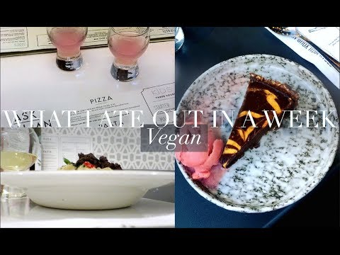 What I Ate Out in a Week (Vegan) | JessBeautician AD