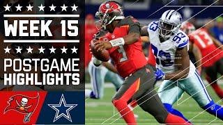 Buccaneers vs. Cowboys | NFL Week 15 Game Highlights