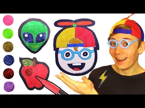 Coloring Emoji 😜Glitter Coloring and Drawing Emoji for Kids